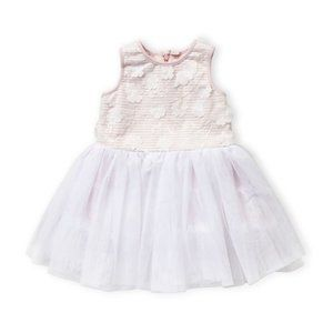 Pippa & Julie Two-Piece Pink & White Dress 0-3M